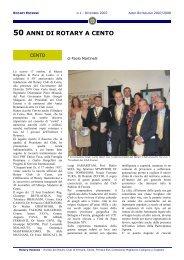 50 ANNI DI ROTARY A CENTO - ROTARY CLUB di CENTO