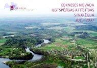 Kokneses novada ilgtspējīgas attīstības stratēģija 2013. - Metrum