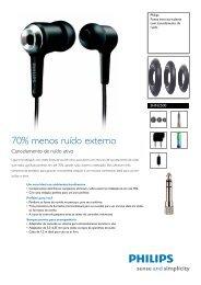 SHN2500/00 Philips Fones intra-auriculares com cancelamento de ...