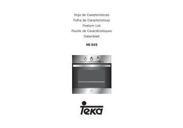 HE-545 Hoja de Características Folha de Caracteristicas ... - Teka