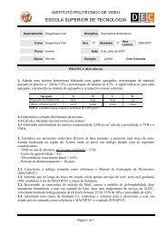 Exame (Prática) - Escola Superior de Tecnologia de Viseu - Instituto ...