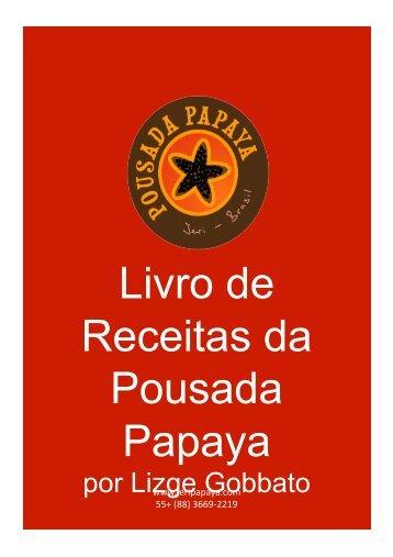 Download do Livro de Receitas em pdf - Pousada Papaya
