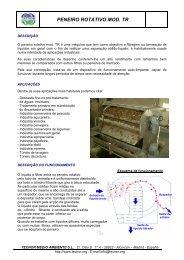 PENEIRO ROTATIVO MOD. TR - TECNOR Medio Ambiente