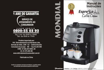 Manual_CAFETEIRA ESPRESSO COFFEE CREAM PREMIUM C-08
