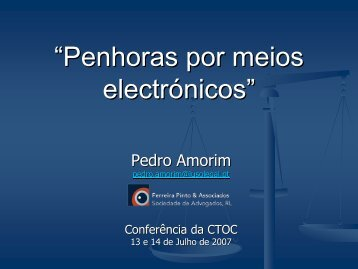 """""""Penhoras por meios electrónicos"""" - Ordem dos Técnicos Oficiais de ..."""