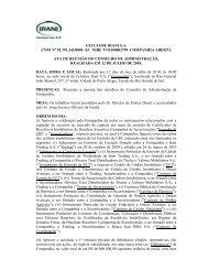 Ata de Reunião do Conselho de Administração - Celulose Irani