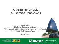 O Apoio do BNDES a Energias Renováveis - Olade