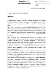 NOTIFICAÇÃO DE HIPOTECA E PENHOR - Viver Bem