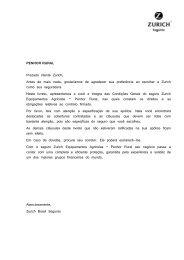 Manual do Seguro - Zurich Equipamentos Agrícolas - Penhor Rural