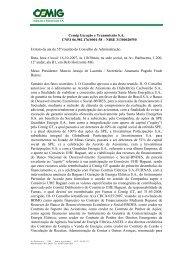 COMPANHIA ENERGTICA DE MINAS GERAIS - CEMIG