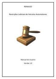 RENAJUD Restrições Judiciais de Veículos Automotores