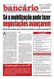Campanha ganha as ruas no DF - Sindicato dos Bancários de Brasília