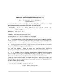 UNIBANCO - UNIÃO DE BANCOS BRASILEIROS S.A. - Banco Itaú