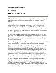 Decreto-Lei n.º 40/99/M CÓDIGO COMERCIAL - WIPO