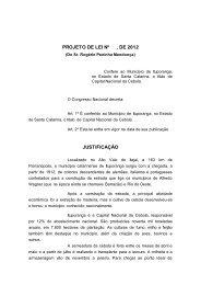 PROJETO DE LEI Nº , DE 199
