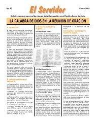 LA PALABRA DE DIOS EN LA REUNION DE ORACIÓN - RCC Cuba
