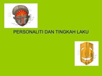personaliti dan tingkah laku - USM