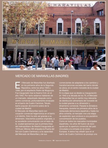 MERCADO DE MARAVILLAS (MADRID) - Mercados Municipales