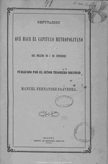 oue hace el capitulo metropolitano - Biblioteca Nacional de Colombia