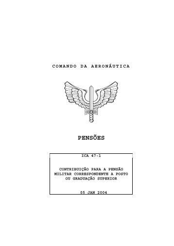 PENSÕES - Subdiretoria de Inativos e Pensionistas da Aeronáutica