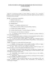 EXTRATO DO REGULAMENTO DE UNIFORMES QUE TRATA DO ...