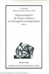 Representações de Teatro Clássico no Portugal Contemporâneo