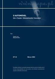 O AUTOMÓVEL Um C l u s t e r (Globalmente) Inovador - Conselho ...