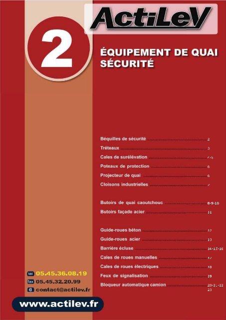 Equipement de quai pour atelier - actilev.fr