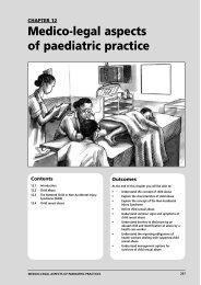 Medico-legal aspects of paediatric practice