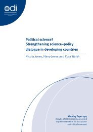Political science? Strengthening science–policy dialogue in ...