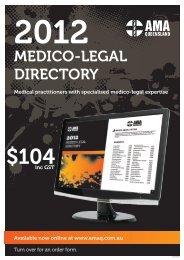 MEDICO-LEGAL DIRECTORY - AMA Queensland