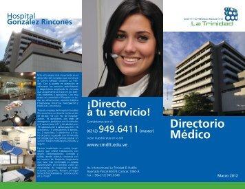 Vea el Directorio Médico - Centro Médico Docente La Trinidad