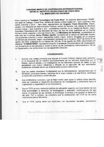 Ministerio de Hacienda - TEC