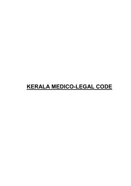 Kerala Medico Legal Code Arogyakeralam