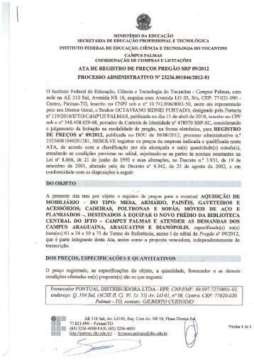 SRP - 09/2012 - Pontual Distribuidora Ltda