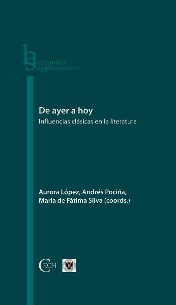 De ayer a hoy. Influencias clásicas en la literatura - Universidade de ...