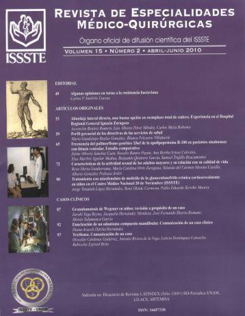 Volumen 15 Número 2 Abril-Junio 2010 - Centro Medico Nacional ...