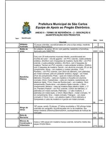 termo de referencia - 2 - Prefeitura Municipal de São Carlos