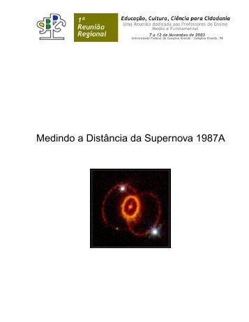Medindo a Distância da Supernova 1987A - Telescópios na Escola