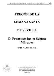 Pregon Semana Santa de Sevilla 2013 - Consejo General de ...