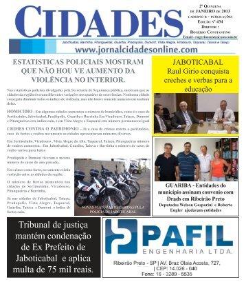 CIDADE ED 417- julho 2012 - Jornal Cidades