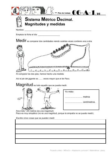 Sistema Métrico Decimal. Magnitudes y medidas - unitao