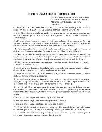 DECRETO Nº 25.212, DE 07 DE OUTUBRO DE 2004. Cria a ...