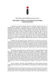 Release em imprensa - Editora Intrínseca