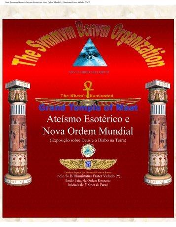 Ateísmo Esotérico e Nova Ordem