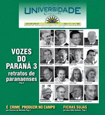EDIÇÃO 130 JULHO de 2010 - Instituto Ciência e Fé