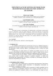 implementação de Sistemas de Medição de Desempenho ... - Abepro