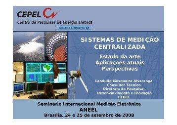 SISTEMAS DE MEDIÇÃO CENTRALIZADA - Aneel