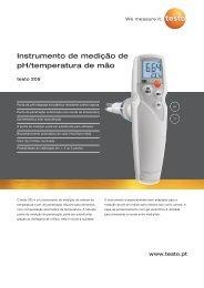Instrumento de medição de pH/temperatura de mão - TestoSites