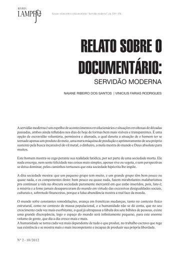 Relato sobre o documentário - Revista Lampejo